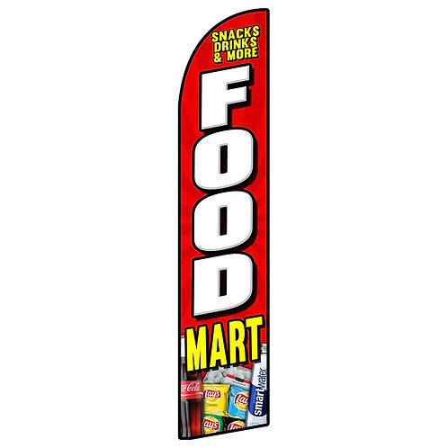 FOOD MART Feather Flag