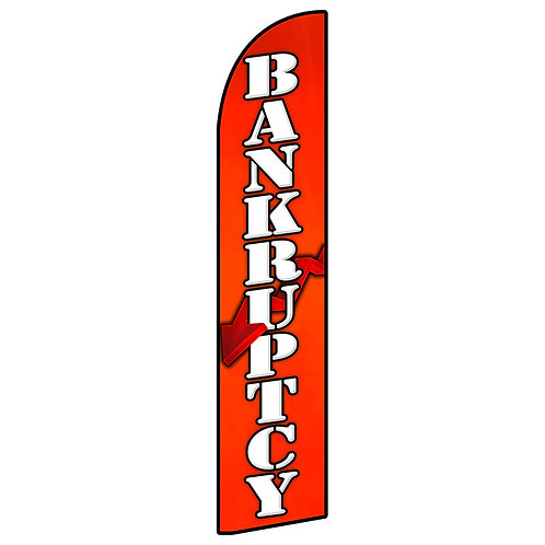 BANKRUPTCY Feather Flag