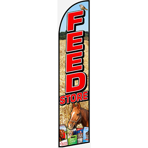FEED STORE Feather Flag