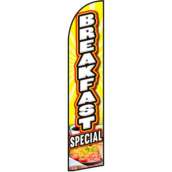 BREAKFAST SPECIAL Feather Flag