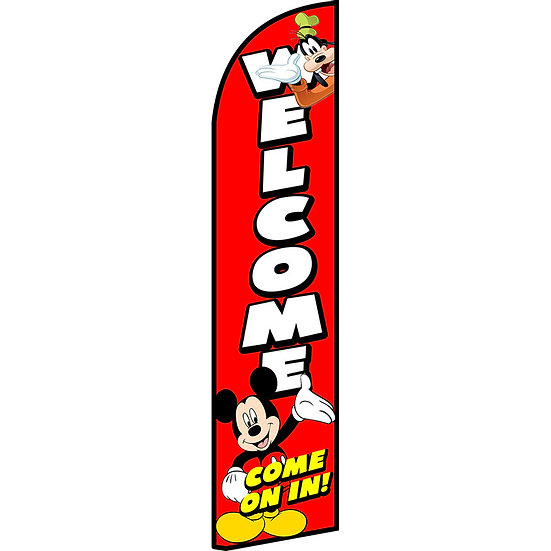 WELCOME COME ON IN! Feather Flag