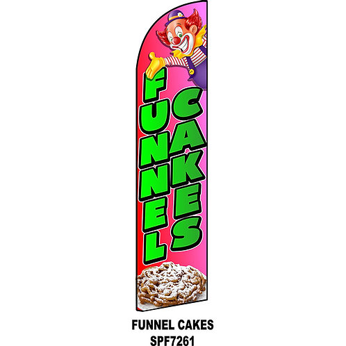 FUNNEL CAKES Feather Flag