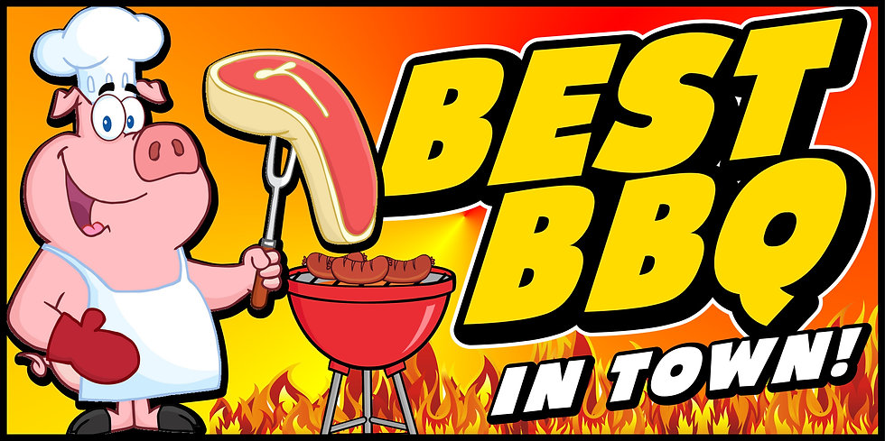 BEST BBQ IN TOWN 3x5 Banner Flag