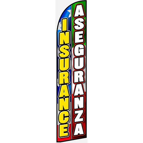 INSURANCE / ASEGURANZA Feather Flag