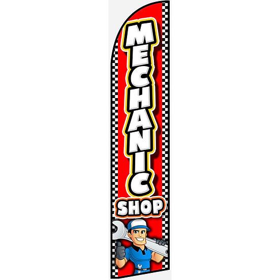MECHANIC SHOP Feather Flag