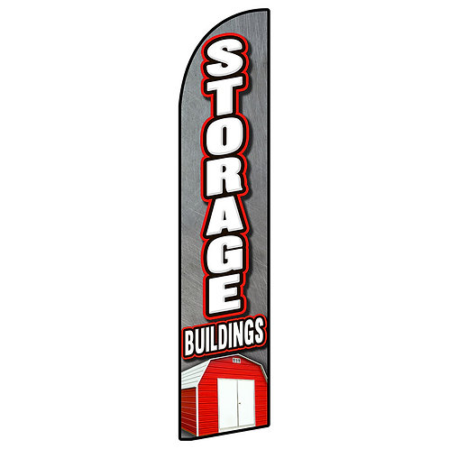 STORAGE  BUILDINGS Feather Flag