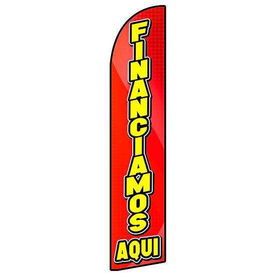 FINANCIAMOS AQUI Feather Flag