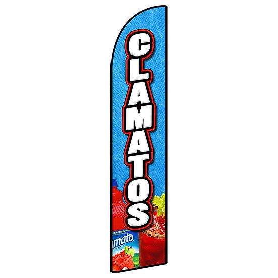 CLAMATOS Feather Flag