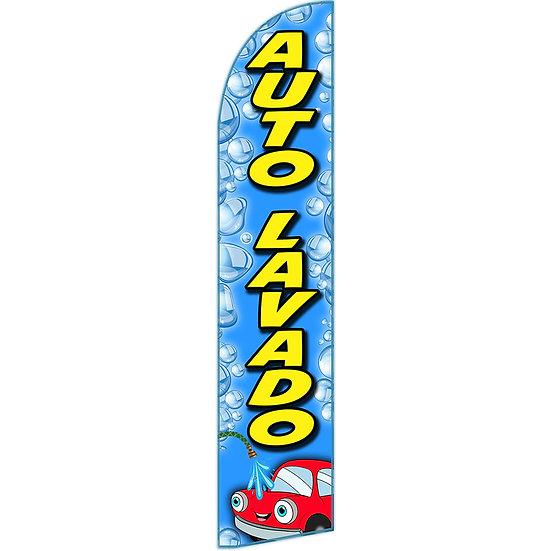 AUTO LAVADO Feather Flag