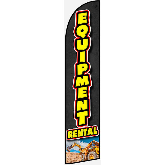 EQUIPMENT RENTAL Feather Flag