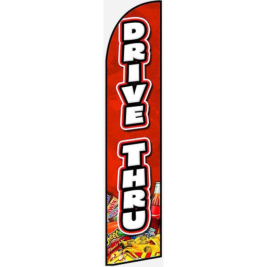 DRIVE THRU Feather Flag