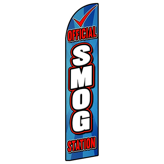 SMOG STATION Feather Flag