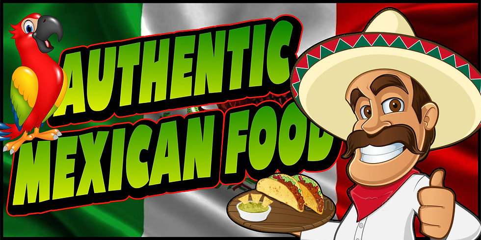 AUTHENTIC MEXICAN FOOD 3x5 Banner Flag