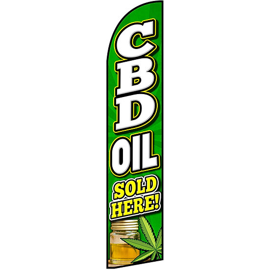 CBD SOLD HERE Feather Flag