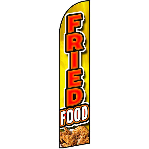 FRIED FOOD Feather Flag