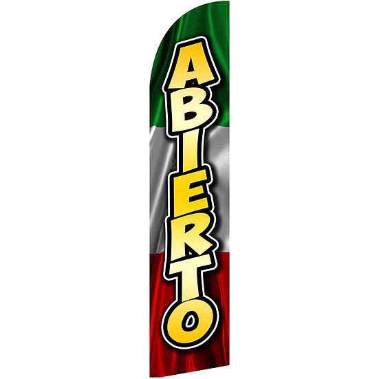 ABIERTO MEXICO Feather Flag