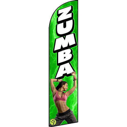 ZUMBA GREEN Feather Flag
