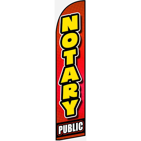 NOTARY PUBLIC Feather Flag