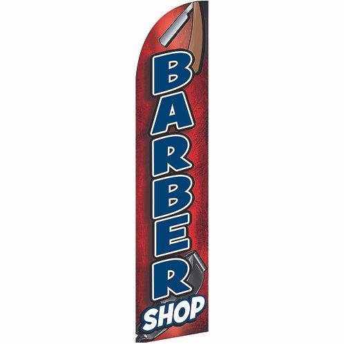 BARBER SHOP Feather Flag