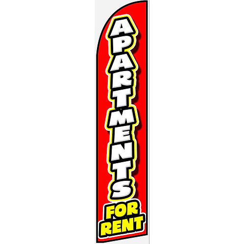 APARTMENTS FOR RENT Feather Flag
