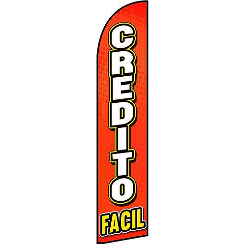 CREDITO FACIL Feather Flag
