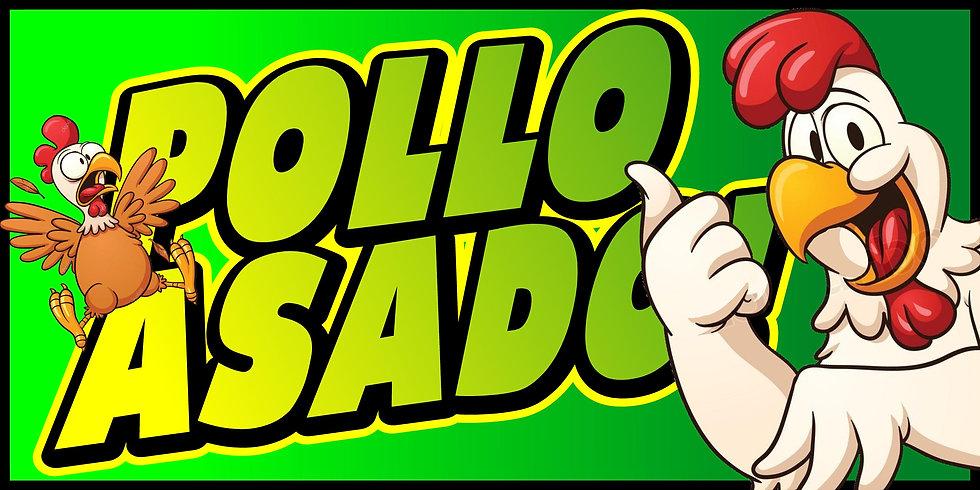 POLLO ASADO 3x5 Banner Flag