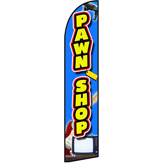 PAWN SHOP Feather Flag