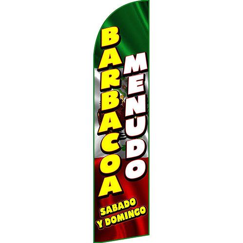 BARBACOA MENUDO Feather Flag