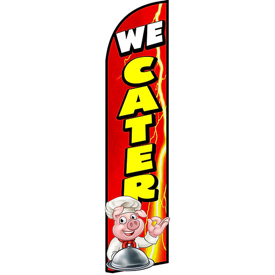 WE CATER Feather Flag