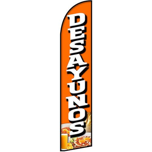 DESAYUNOS Feather Flag