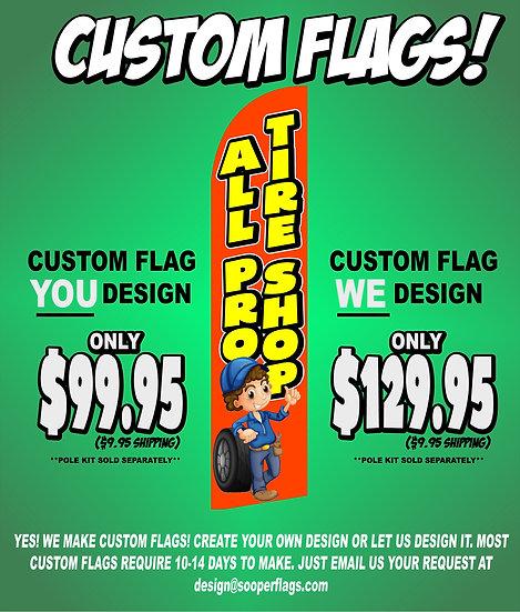 CUSTOM FLAG Feather Flag