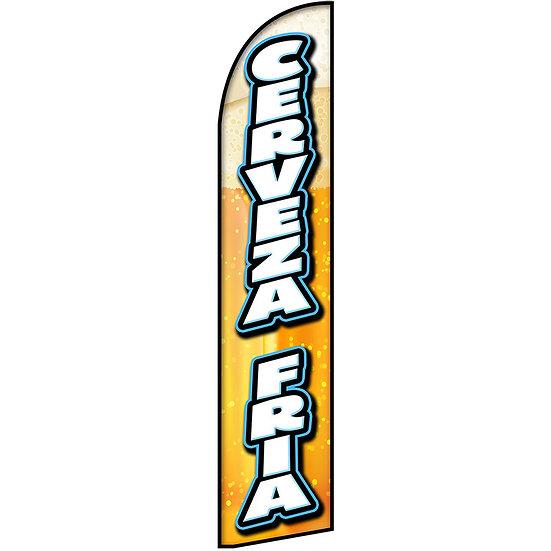 CERVEZA FRIA Feather Flag