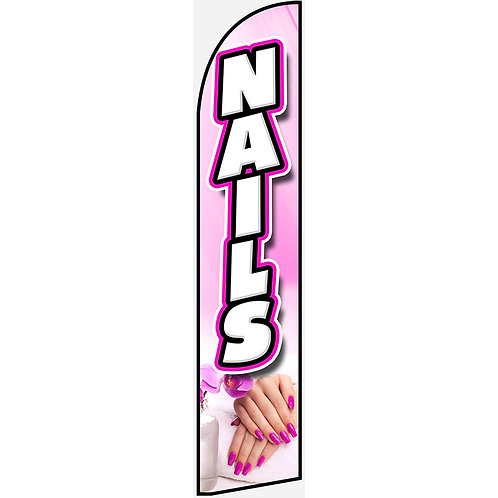 NAILS Feather Flag
