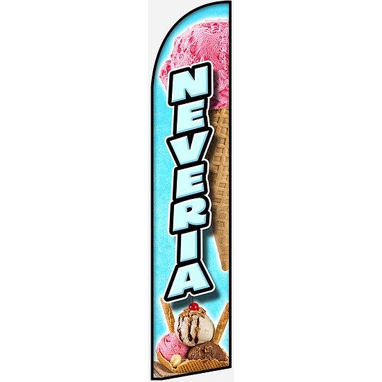 NEVERIA Feather Flag
