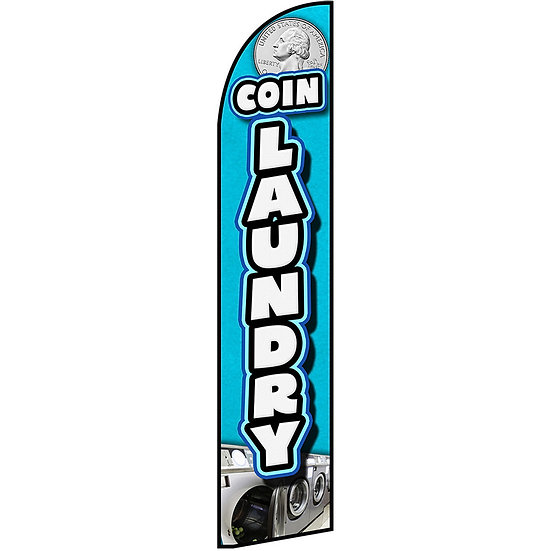 COIN LAUNDRY Feather Flag