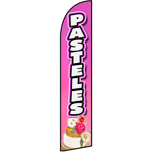 PASTELES Feather Flag