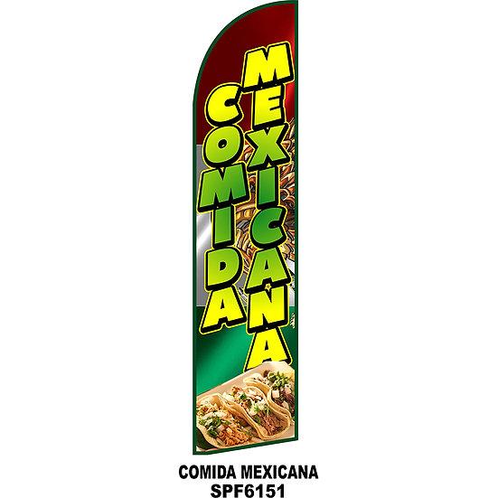 COMIDA MEXICANA Feather Flag for Mexican restaurant