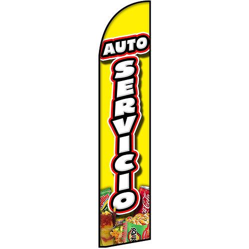 AUTO SERVICIO Feather Flag