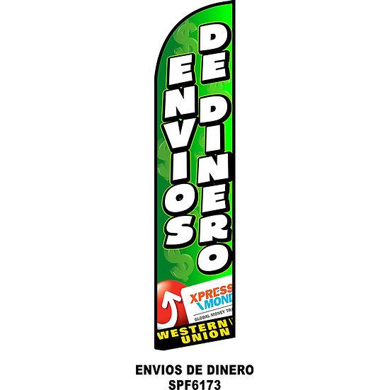 ENVIOS DE DINERO Feather Flag