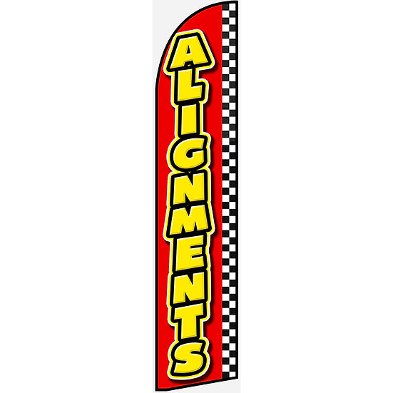 AUTO ALIGNMENTS Feather Flag