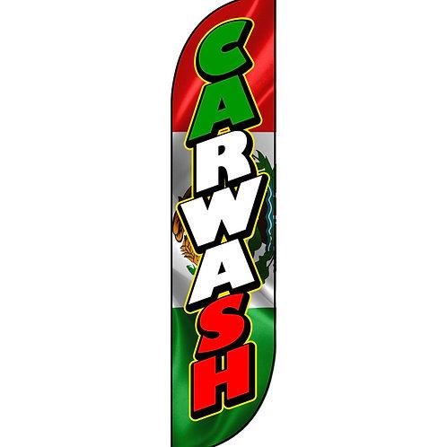 CAR WASH MEX Feather Flag