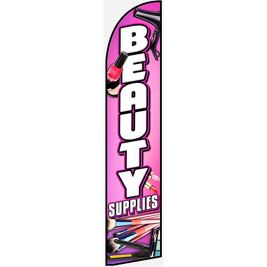 BEAUTY SUPPLIES Feather Flag