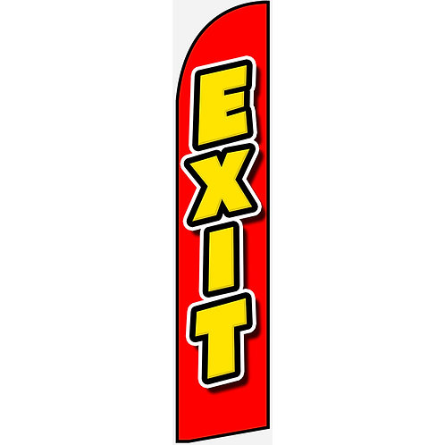 EXIT Feather Flag