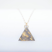 9ct Gold, Paper Triangle Necklace