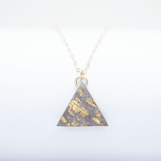 9ct Gold Paper Triangle Necklace