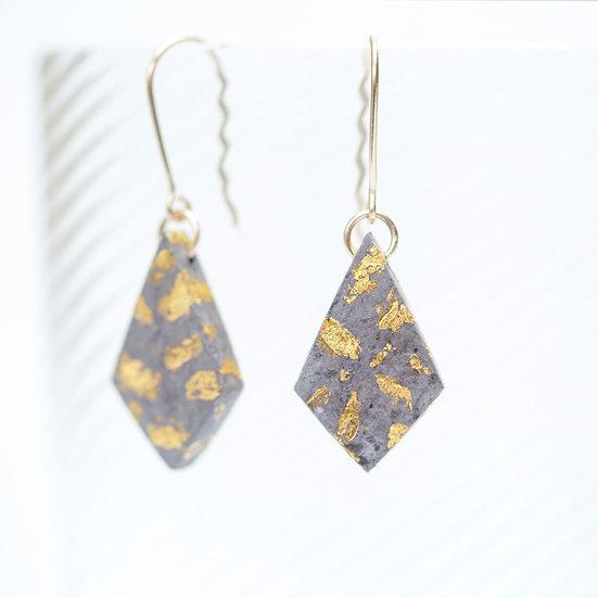 9ct Gold Paper Diamond Earrings