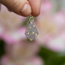 Grey 'Dotty' Paper Diamonds