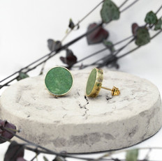 Green Brass Studs