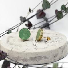 Green Brass Studs