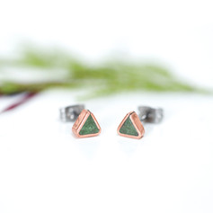 'Copper Triangle' Studs